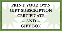 Print your own gift certificate